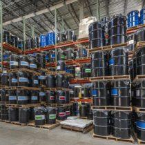 Barrel storage in an industrial  warehouse
