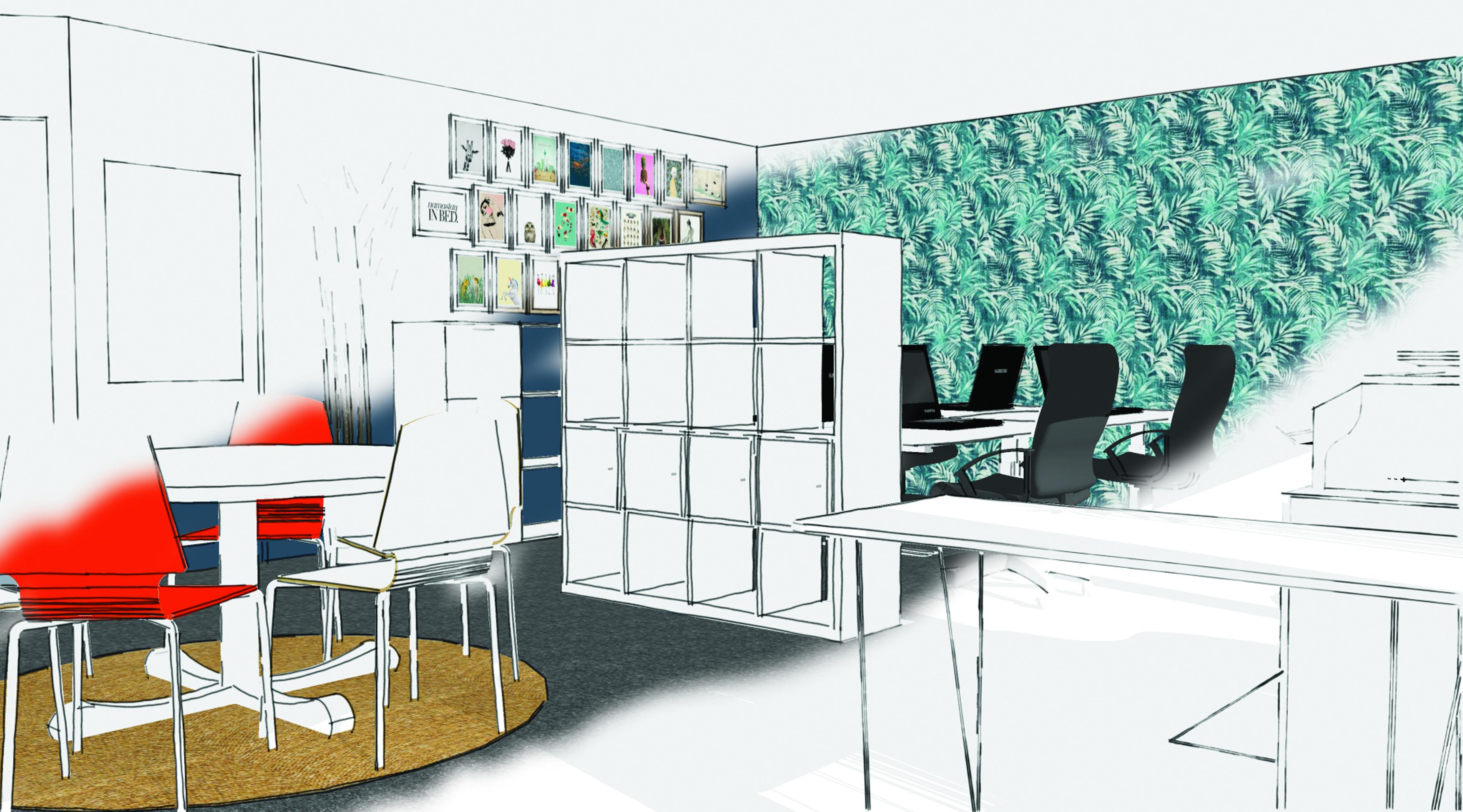 Couleur Peinture Pour Bureau Professionnel aménagement des espaces de travail | atousante